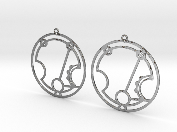 Harriet - Earrings - Series 1 3d printed