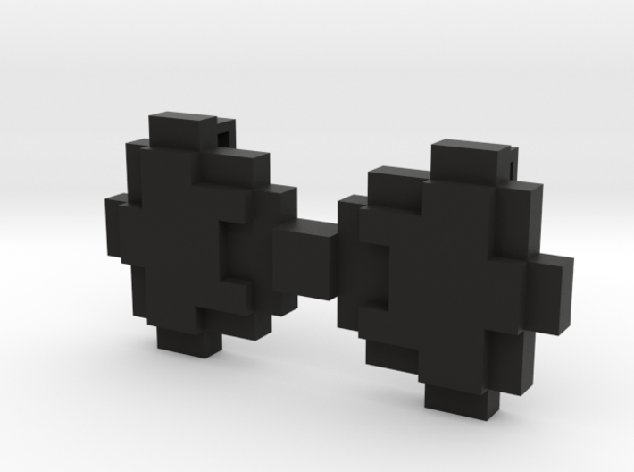8-bit Bowtie Necklace 3d printed