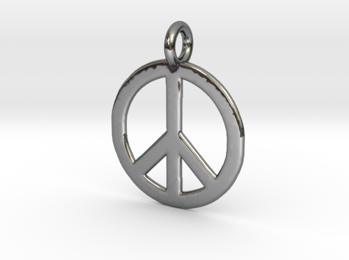 Peace Necklace 3d printed