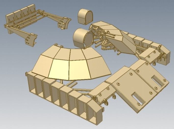 1-16 T55 ENIGMA TURRET Shields 3d printed