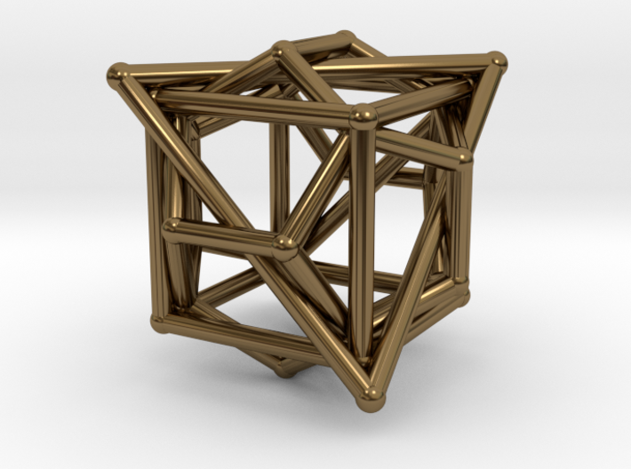 Platonic Tangle Pendant 3d printed