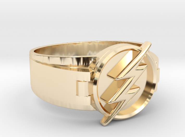 Flash Ring size 8.5 18.5mm 3d printed