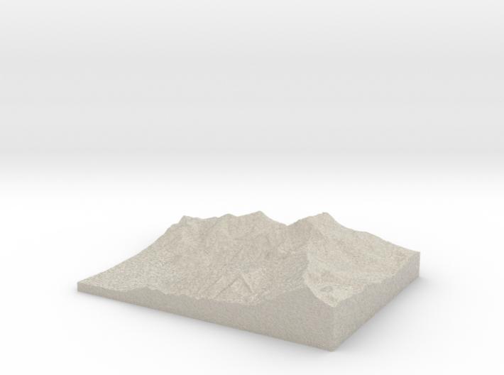 Model of Ross Pass 3d printed