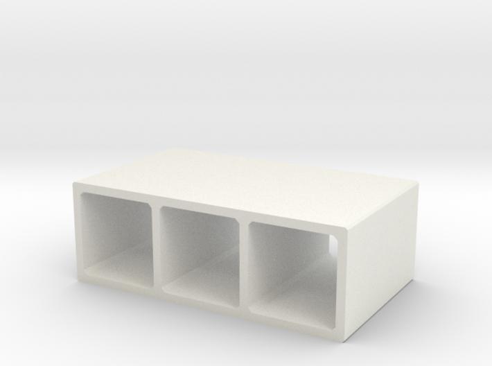 N/H0 Box Culvert Triple Tube (size 1) 3d printed