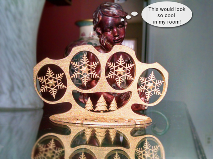 Very Brass Christmas 3d printed Statue Boy is right! Get yours today!