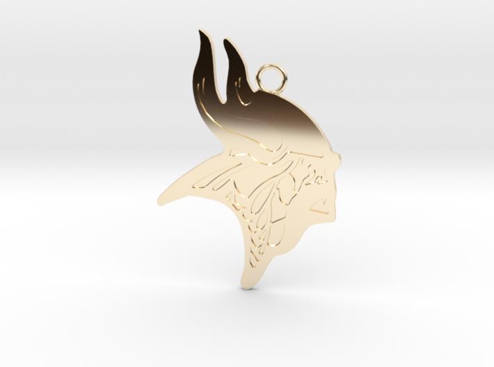 Minnesota Vikings Gold Pendant 3d printed