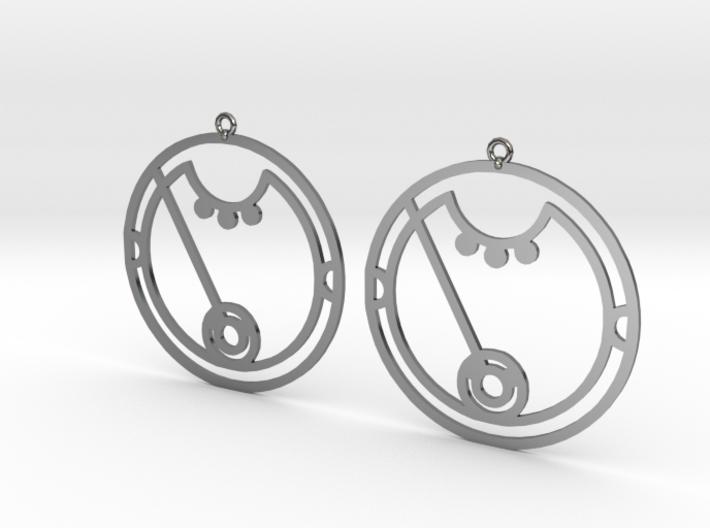Ciara / Kiara - Earrings - Series 1 3d printed