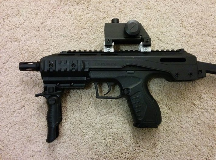 Mount MP5 Scope to Picatinny Rail Adapter 3d printed