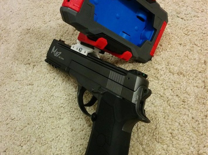 Picatinny to Nerf Adapter (2 Slots) 3d printed