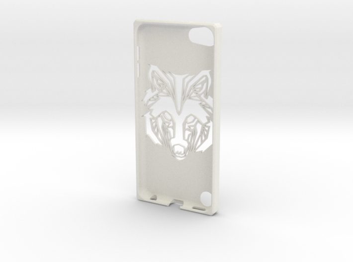 Ipod 5th G wolf case 3d printed