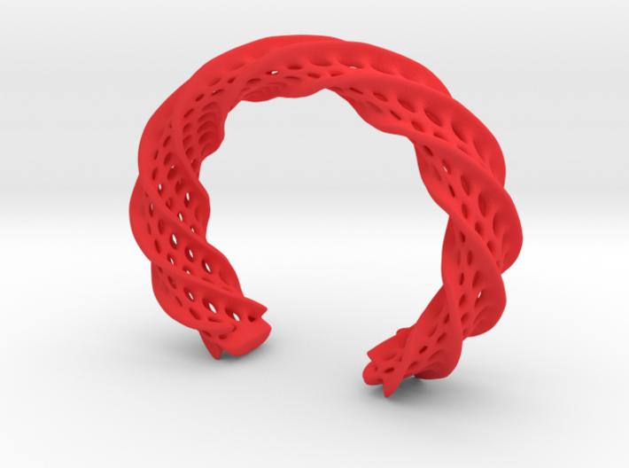 Twist Cuff (Size L) 3d printed