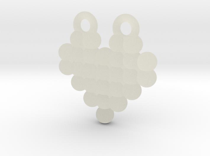 Display Dot Heart Pendant 3d printed
