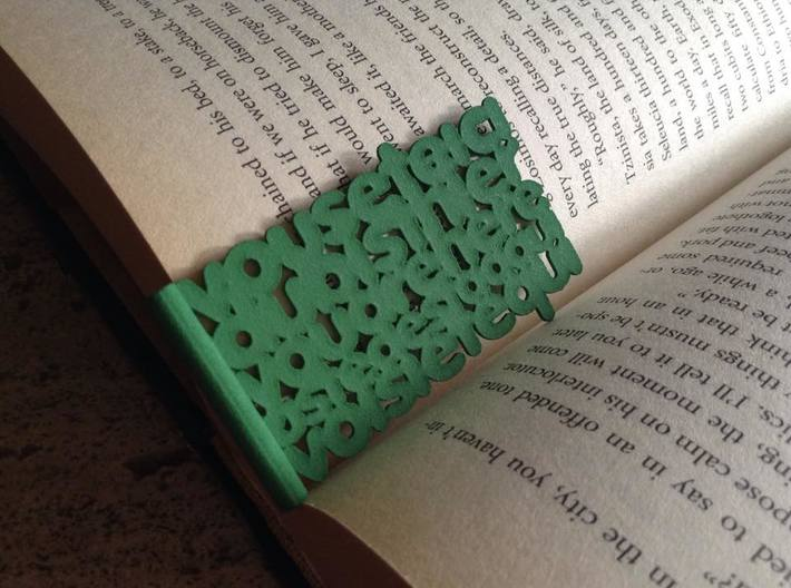Youarehere bookmark (small) 3d printed
