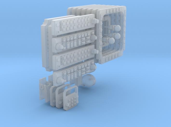 SG HAwk Main Pannels - NO HUD Frame 3d printed