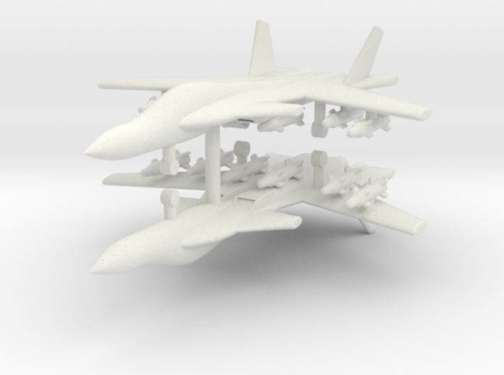 1/285 Su-47 Berkut (x2) 3d printed