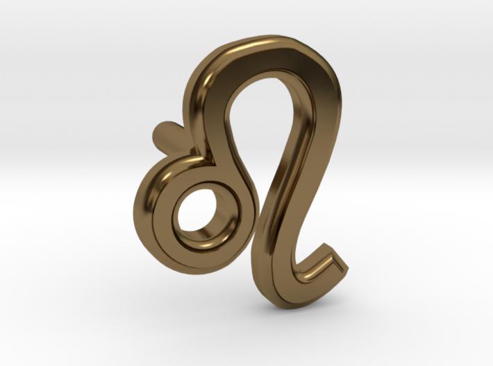 Leo Earring 3d printed