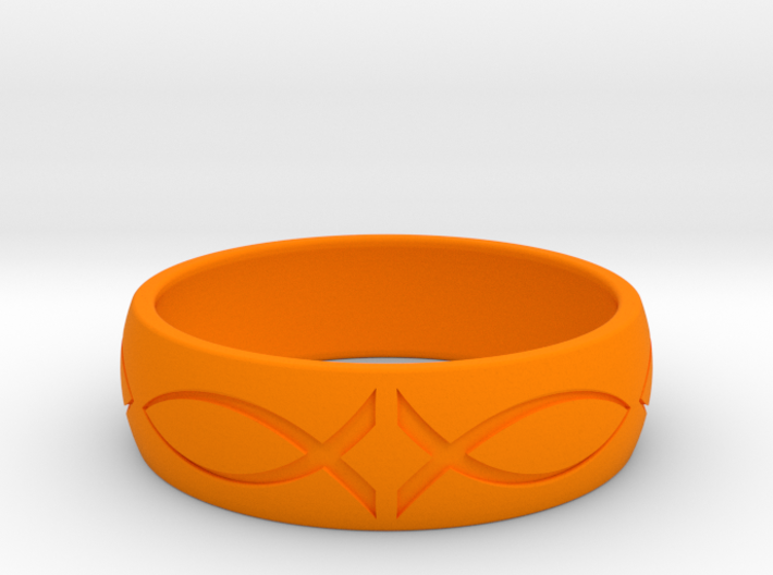 Size 8 Ring engraved 3d printed