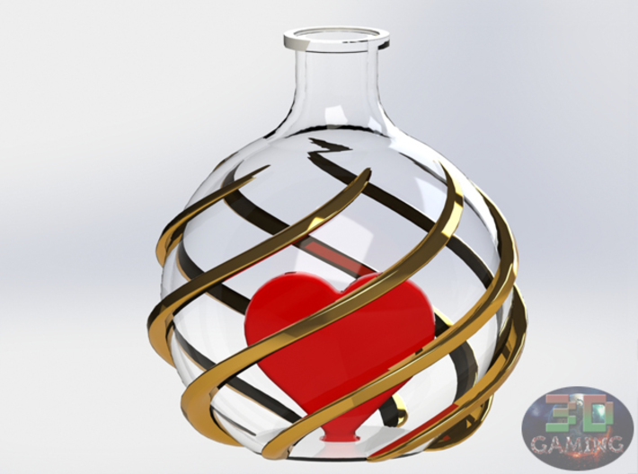 Love Bottle Pendant (Healh Potion) 3d printed