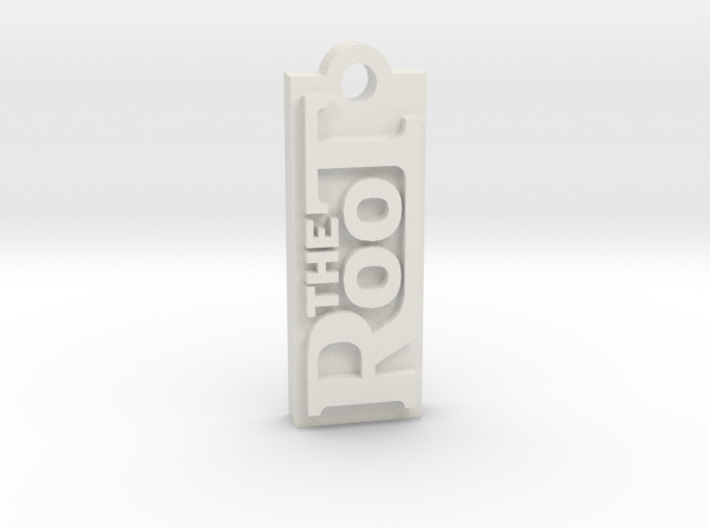 The Root - Bag Tag with Address on Back 3d printed