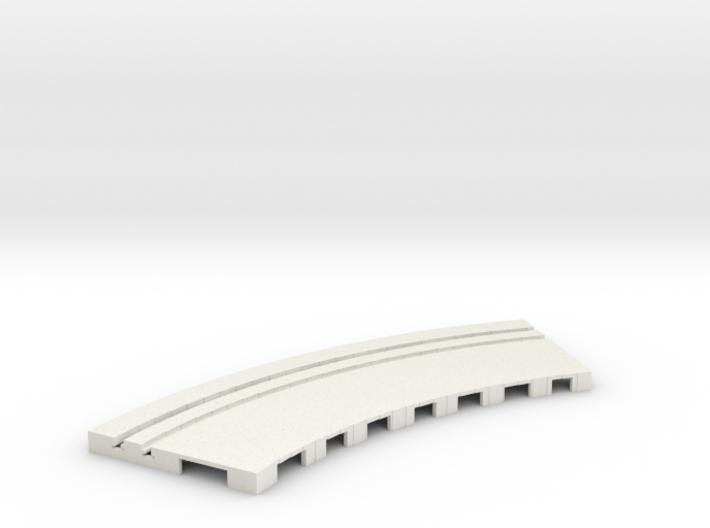 P-65stp-curve-tram-road-outer-145r-100-pl-1a 3d printed