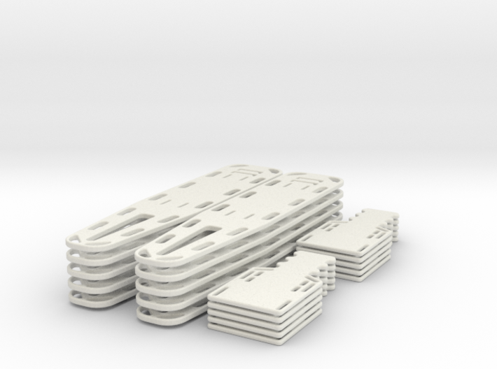 1/24 scale Spine Board Set (10 ea full and half) 3d printed