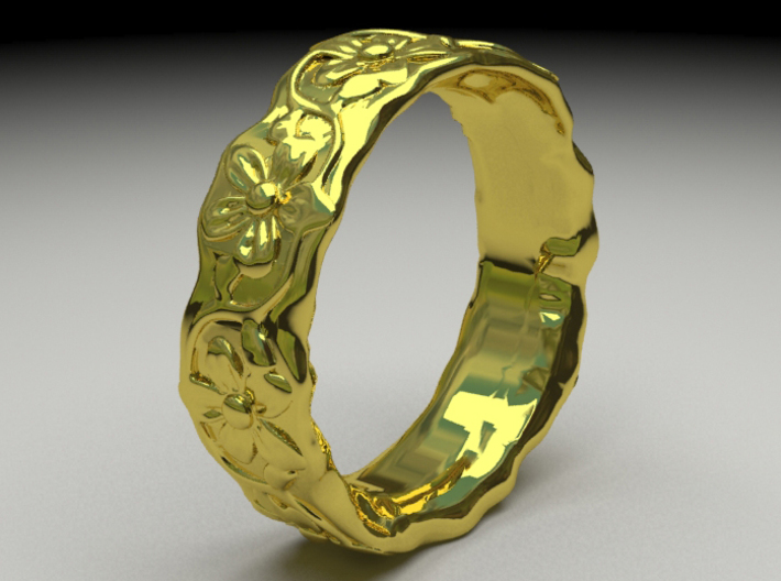 Flower Ring S 6.5 u.s. 3d printed