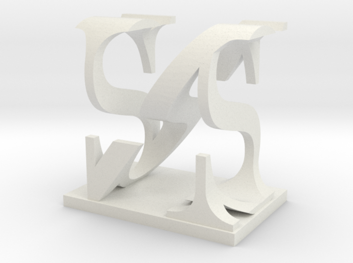 Two way letter / initial S&N 3d printed