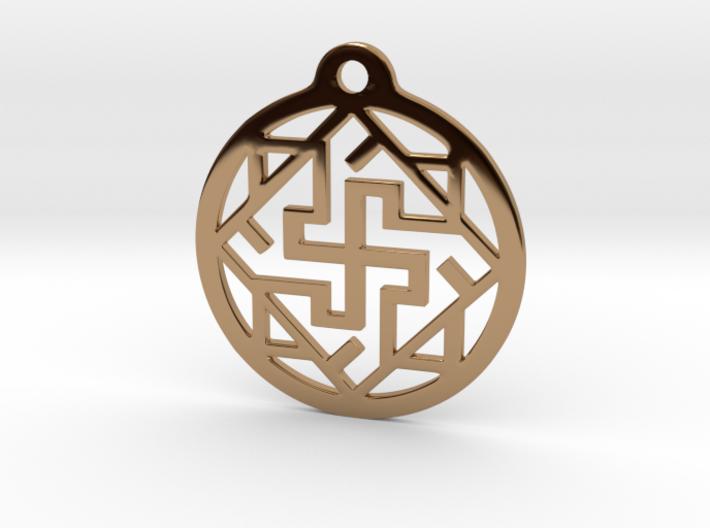 Swasthik / Kolam Pendant 3d printed