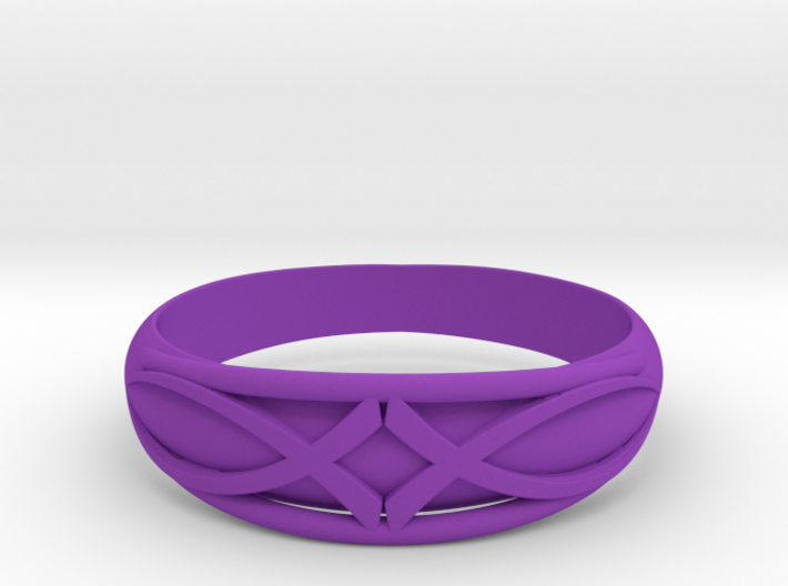 Size 8 L Ring 3d printed