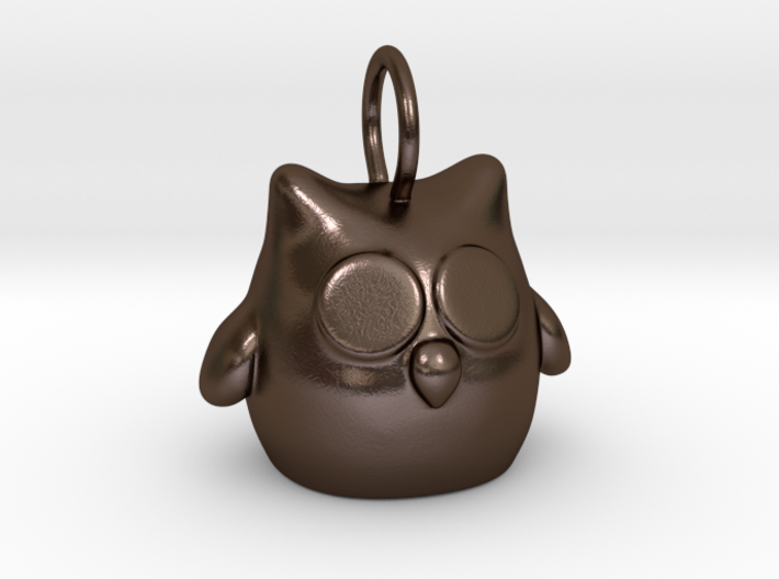 Owl keychain or pendant 3d printed