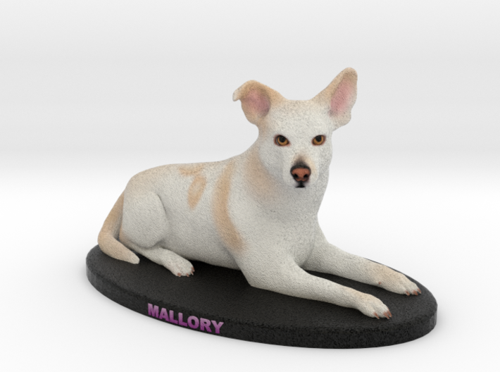 Custom Dog Figurine - Mallory 3d printed