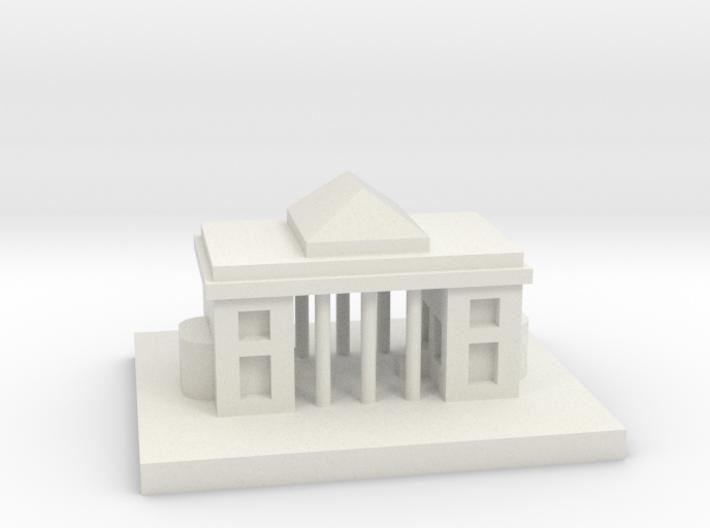 House 20 3d printed white
