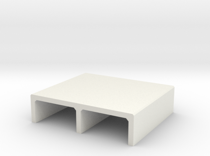 H0 Box Culvert Double Tube Half Height (size 2) 3d printed