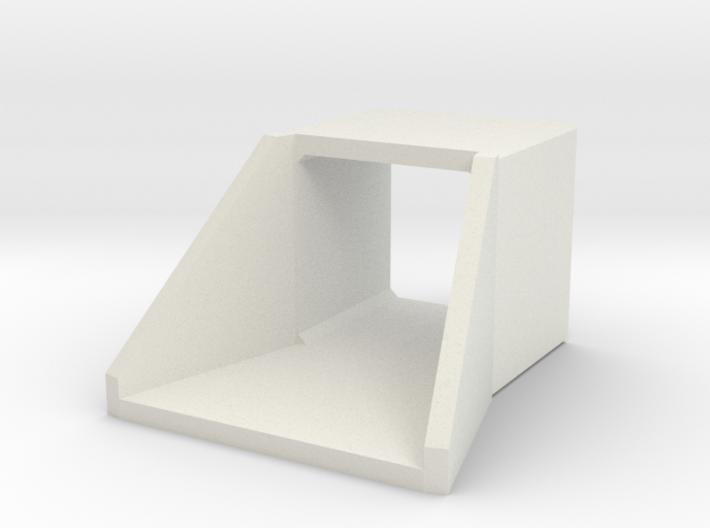 H0 Box Culvert Flared Headwall (size 2) 3d printed