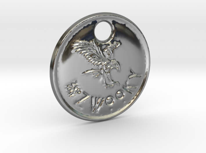 ZWOOKY Style 82 Sample - keychain eagle 3d printed