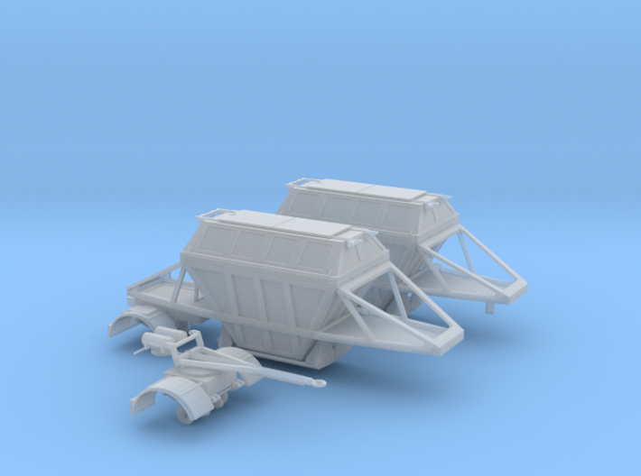 1/64th scale Covered belly dump hopper trailers 3d printed