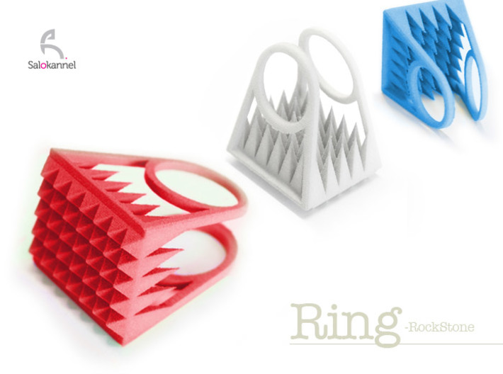 RockStone - ring size 6 3d printed Size 6