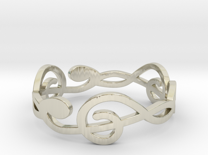 Size 9 G-Clef Ring A 3d printed