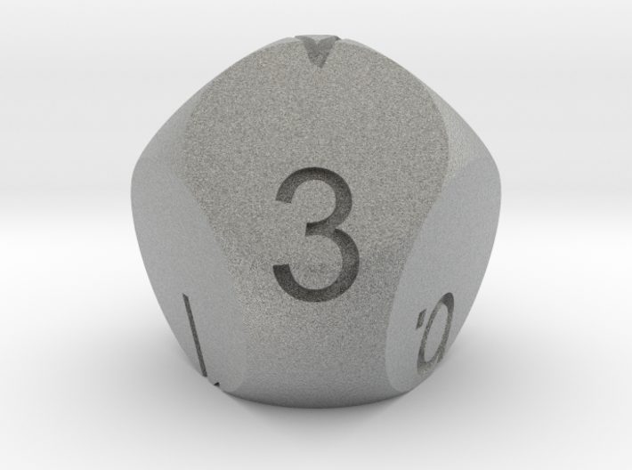D7 3-fold Sphere Dice 3d printed