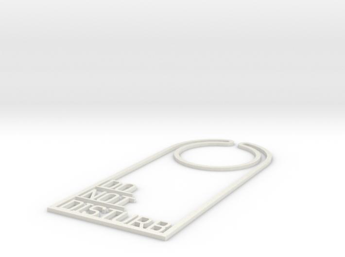 Door hanger - Do Not Disturb 3d printed