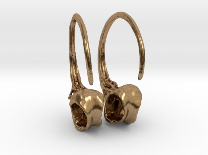 Hummingbird Hoop Earring Pair 3d printed