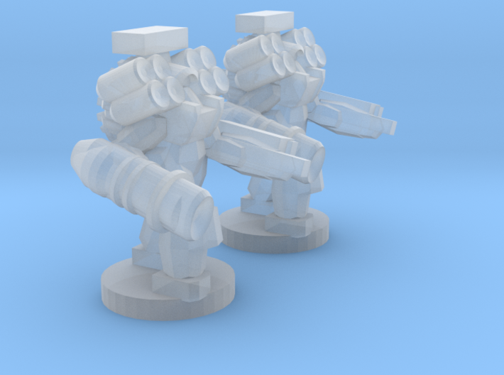 UWN - Infantry Heavy Mecha Suit Team 3d printed
