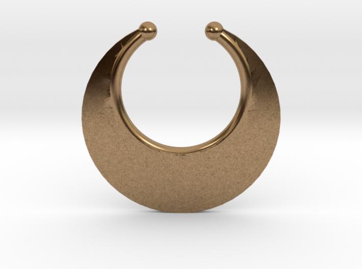 Faux Septum Ring - Crescent (medium) 3d printed