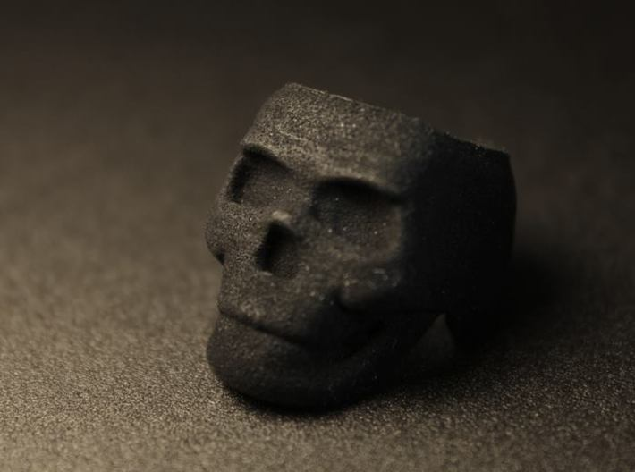 Skull Ring Size 8.25 3d printed
