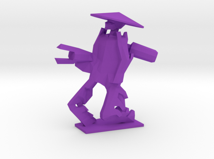 Purple 3d printed