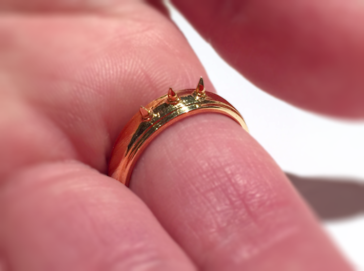 Nailed Wedding Ring - Size 10 3d printed