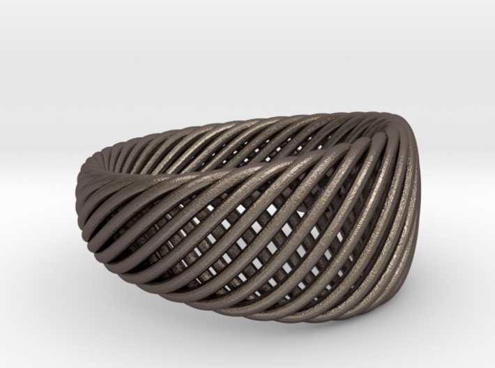 Twisted Ring - Size 6 3d printed