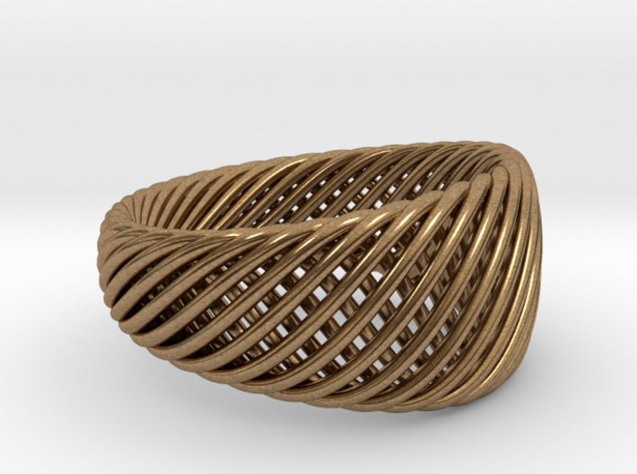 Twisted Ring - Size 7 3d printed