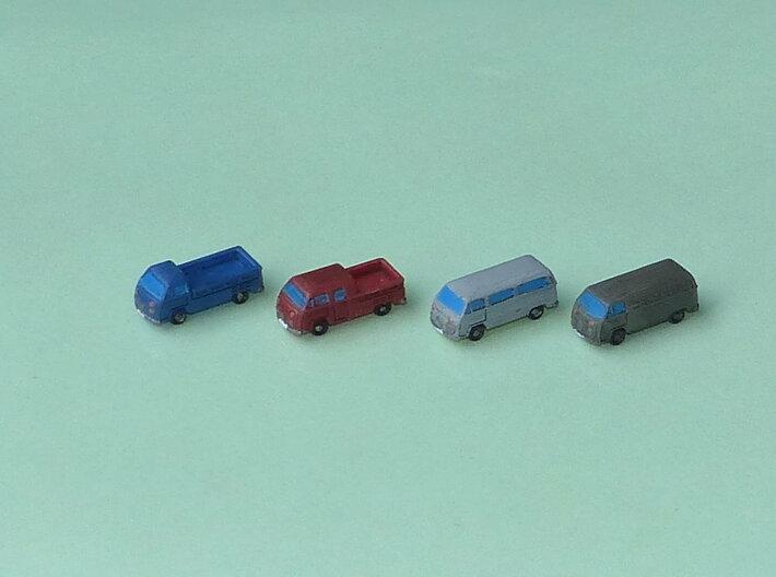 VW Bus Type 2 1/285 6mm 3d printed Set of 8