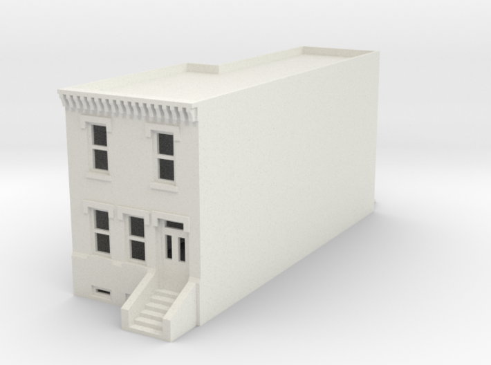 N SCALE ROW HOUSE FRONT 2S WHOLE REV fixed 3d printed